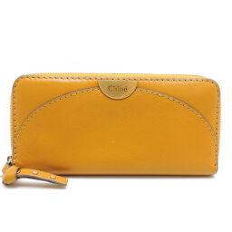 Chloe Chloe 3P0812-H99 Round Zip Wallet Leather Women's Wallet DH64541 [Used]