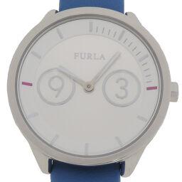 Furla フルラ R4251102508 メトロポリス ステンレススチール×レザー レディース 腕時計 DH64596【中古】ABランク