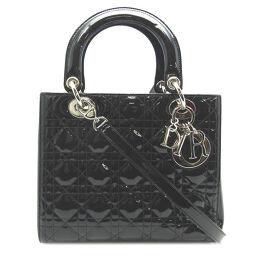 <html>    <body>   Christian Dior クリスチャンディオール レディディオール 2Way パテントレザー レディース ハンドバッグ DH64624     【中古】ABランク        </body> </html>