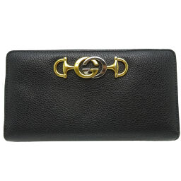 GUCCI Gucci 570661 Zumi Round Zip Leather x Metal Women's Wallet DH64778 [Used] AB Rank