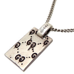 GUCCI Gucci 455315 SV925 Ghost Pendant Silver 925 Women's Men's Necklace DH64831 [Used] AB Rank