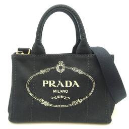 PRADA Prada B2439G CANAPA Canapa Tote Canvas Ladies Handbag DH64866 [Used] A rank