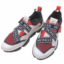 MONCLER Moncler 1037500 socks type sneakers rubber x leather x mesh men's sneakers DH64909 [used] A rank
