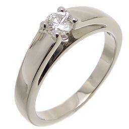 BVLGARI Bvlgari Pt950 Marry Me! Solitaire Diamond Pt950 Platinum No. 8 Ladies Ring / Ring DH65002 [Used] A rank