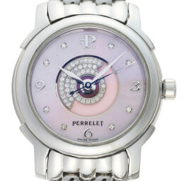 PERRELET Lady Tempest 8P Diamond Stainless Steel Ladies Watch DH65038 [Used] A rank