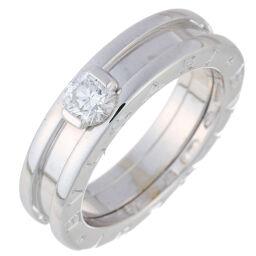 BVLGARI Bulgari Solitaire 0.31ct Diamond # 49 750 White Gold No. 9 Ladies Ring / Ring DH65071 [Used] A rank