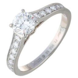 CARTIER Cartier Solitaire 1895 Half 0.52ct Diamond # 50 Pt950 Platinum 9.5 Ladies Ring / Ring DH65074 [Used] A rank