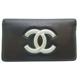 CHANEL A80891 Large Coco Fastener Lambskin Women's Men's Wallet DH65109 [Used]