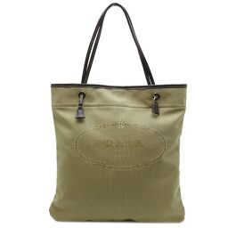 PRADA Prada BR3581 Jacquard Logo Tote Leather x Jacquard Ladies Tote Bag DH65132 [Used] A rank