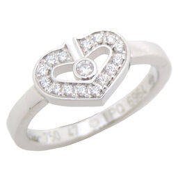 CARTIER Cartier C Heart Diamond # 47 750 White Gold No. 6.5 Ladies Ring / Ring DH65135 [Used] A rank