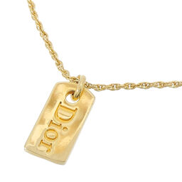Christian Dior Christian Dior logo plate GP ladies necklace DH65137 [used] A rank