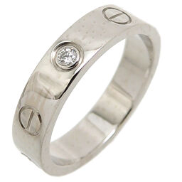 CARTIER Cartier 750WG # 48 0.02ct Diamond Mini Love 750 White Gold No. 8 Ladies Ring / Ring DH65149 [Used] A rank