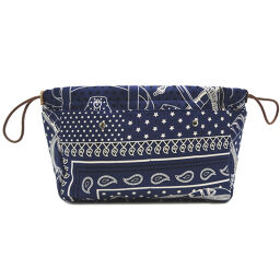 HERMES Hermes Fulbi 25 T engraved silk x Vovalenia ladies' men's pouch DH65191 [Used] A rank