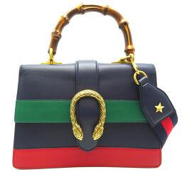 GUCCI Gucci 448075 Bamboo Dionysus Medium Leather x Bamboo Ladies Handbag DH65242 [Used] AB Rank