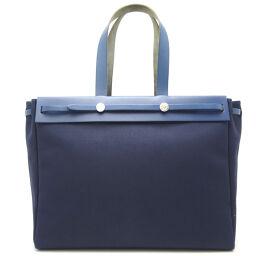 HERMES Hermes Ale Bag Kabas MM * Unknown engraving Calf x Toile Ladies Tote Bag DH65278 [Used]
