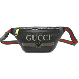 GUCCI Gucci 527792 Body Bag Leather Women's Men's Waist Bag DH65281 [Used] AB Rank