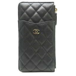 CHANEL Chanel AP0225 Matrasse iPhone Classic Pouch Caviar Skin Women's Mobile / Smartphone Accessories DH65315 [Used] A Rank