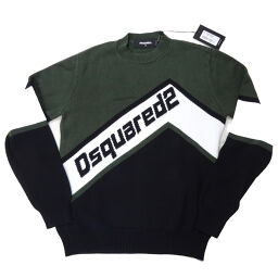 DSQUARED2 Dsquared S74HA1021 Front Logo Knit Sweater #M Cotton Men's Sweater DH65400 [Used] A Rank
