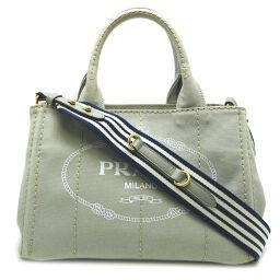 PRADA Prada 1BG439 Kanapat Tote Canvas Ladies Tote Bag DH65403 [Used] AB Rank