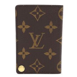 LOUIS VUITTON Louis Vuitton M60937 (Discontinued) Porto Carte Clady Pression Monogram Canvas Women's Men's Card Case DH65410 [Used] AB Rank