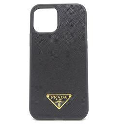 PRADA Prada 1ZHI33 iPhone12 / 12PRO Smartphone Case Saffiano Leather x SAFFIANO TRIANG Ladies Mobile / Smartphone Accessories DH65444 [Used] SA Rank