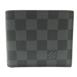 LOUIS VUITTON ルイ・ヴィトン N63336 ポルトフォイユ・マルコ NM ダミエグラフィットキャンバス メンズ 二つ折り財布 DH65602【中古】ABランク