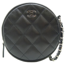 CHANEL Chanel Matrasse Chain Lambskin Ladies Pouch DH65636 [Used] SA Rank
