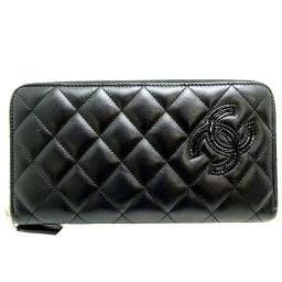 CHANEL A80213 Simply Round Zipper Calf Women's Wallet DH65637 [Used] AB Rank