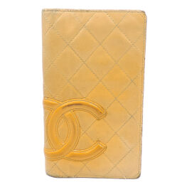 CHANEL A26717 Cambon Long Wallet Leather Women's Wallet DH65656 [Used] BC Rank
