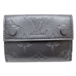 LOUIS VUITTON Louis Vuitton M67631 Discovery Compact Monogram Shadow Leather Women's Men's Coin Case DH65672 [Used] A Rank