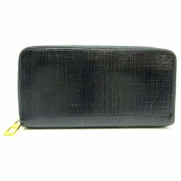 LOEWE Loewe linen round zipper wallet leather men's long wallet DH65813 [used] AB rank