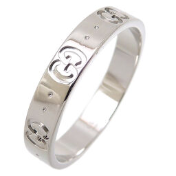 GUCCI Gucci 750WG Icon Slim 750 White Gold No. 20 Men's Ring / Ring DH65838 [Used] A rank