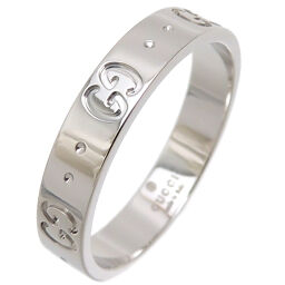 GUCCI Gucci 750WG Icon Slim 750 White Gold No. 17.5 Men's Ring / Ring DH65839 [Used] A rank