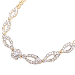 Non Brand Non Brand 750YG Diamond 750 Yellow Gold Ladies Necklace DH65849 [Used] A rank