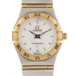[Used] OMEGA Omega SS K18YG Watch Constellation Mini Silver Gold Ladies Fashionable Cute Recommended Gift Present Stainless Steel K18 Yellow Gold [BIM]