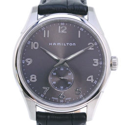 HAMILTON Hamilton Jazz Master Thinline H384110 Stainless Steel × Leather Silver Quartz Men Gray Dial Watch [Used] A rank