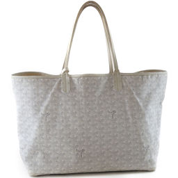 GOYARD Goyaru Sanrui PM PVC coated canvas white unisex tote bag [used]