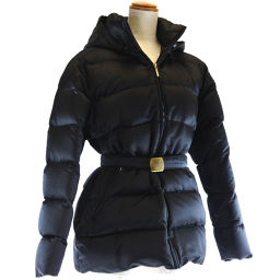 MONCLER Moncler NORME AFNOR Nylon x Wool Black Ladies Down Jacket [Used]