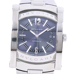 BVLGARI Bvlgari Ashoma AA48S Stainless Steel Self-winding Men's Blue Dial Watch [Used]