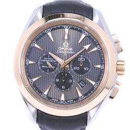 OMEGA オメガ シーマスター アクアテラ 231.23.44.50.06.001 K18イエローゴールド×ステンレススチール 自動巻き メンズ グレー文字盤 腕時計【中古】SAランク