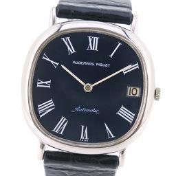 AUDEMARS PIGUET Audemars Piguet K18 White Gold × Leather Blue Automatic Men's Navy Dial Watch [Used]