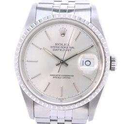ROLEX ロレックス デイトジャスト バーインデックス 16220 ステンレススチール 自動巻き メンズ シルバー文字盤 腕時計【中古】Aランク