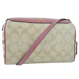 COACH Coach Bennett Crossbody Signature F76630 PVC x Leather Beige Women's Shoulder Bag [Used] A + Rank