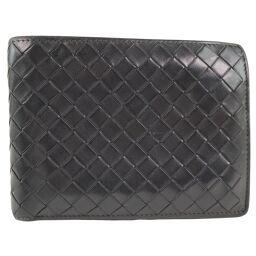 BOTTEGA VENETA Intrecciato Calf Brown Men's Bi-Fold Wallet [Used]