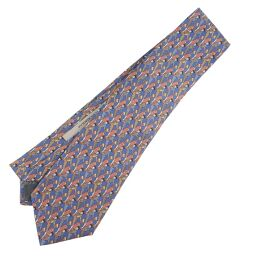 LOEWE Loewe Silk Blue Men's Tie [Used] S Rank