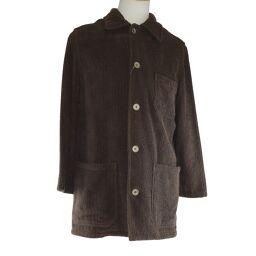 HERMES Hermes VESTE CHEMISE 439005HA 37 XS cotton brown men's long-sleeved shirt [used] A + rank