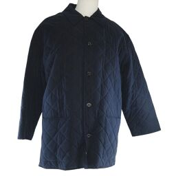 HERMES Hermes Coat Quilting Cotton Navy Men's Other Outerwear [Used] A + Rank