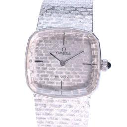 OMEGA オメガ デヴィル Cal.625 BC7111912 K18ホワイトゴールド 手巻き レディース シルバー文字盤 腕時計【中古】Aランク
