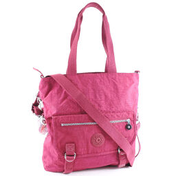 Kipling Kipling 2WAY Shoulder Nylon Pink Ladies Tote Bag [Used] S Rank