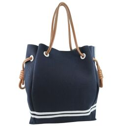 LOEWE Loewe Flamenco Knot Sailor 321.60.T30 Canvas Navy Blue Ladies Tote Bag [Used] A Rank